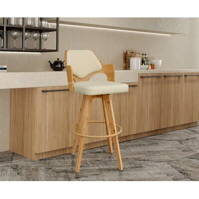 Westman 39.5 Swivel Bar Stool Upholstery: Beige
