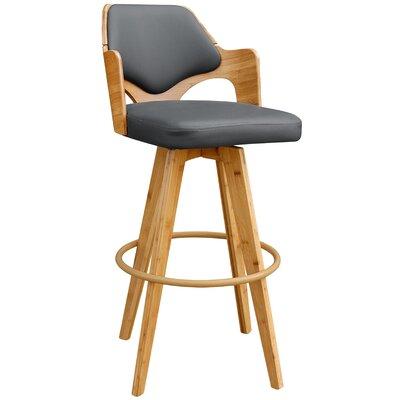 Westman 39.5 Swivel Bar Stool Upholstery: Charcoal