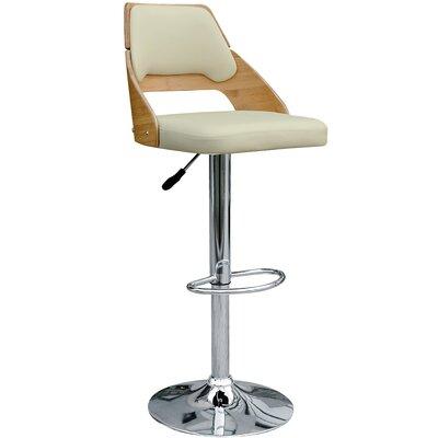 Westfall Adjustable Height Swivel Bar Stool Upholstery: Beige