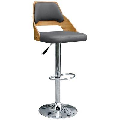 Westfall Adjustable Height Swivel Bar Stool Upholstery: Charcoal