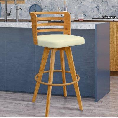 Westover 38 Swivel Bar Stool Upholstery: Beige