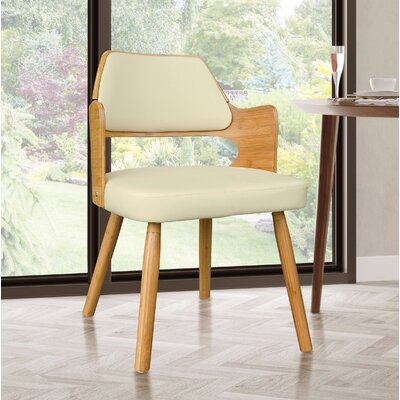 Westley Bamboo Upholstered Dining Chair Upholstery Color: Beige