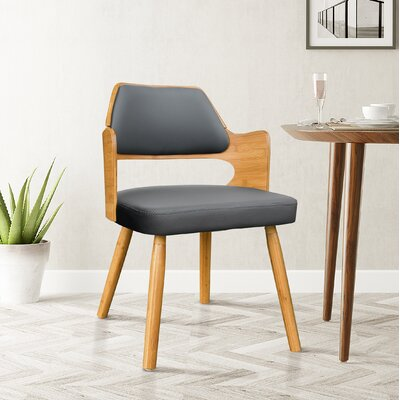 Westley Bamboo Upholstered Dining Chair Upholstery Color: Charcoal