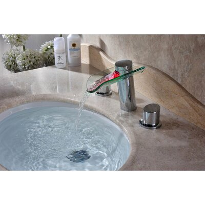 Contemporary/Modern Double Handle Sink Faucet