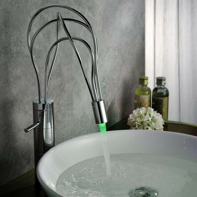 Single Handle Deck Mount LED Vessle Faucet