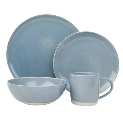 Canvas Home Shell Bisque 4 Piece Place Setting, Service for 1