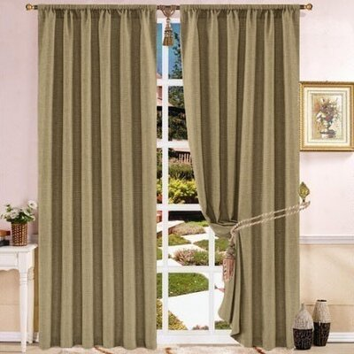 Striped Rod Pocket Single Curtain Panel