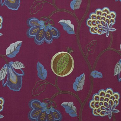 Starlight Floral Fabric Color: Ruby