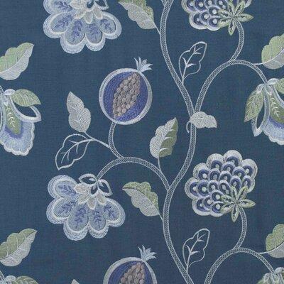 Starlight Floral Fabric Color: Denim