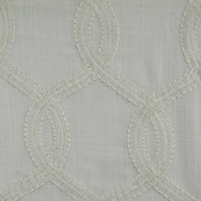 Nantucket Curtain Fabric Color: White