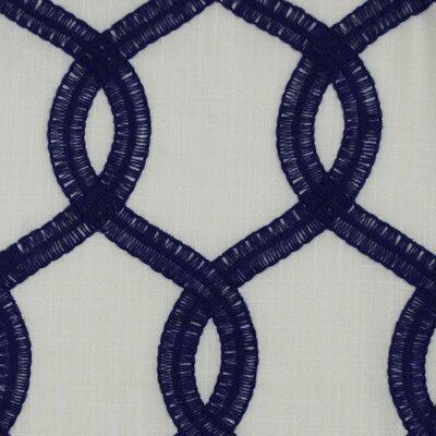 Nantucket Curtain Fabric Color: Navy