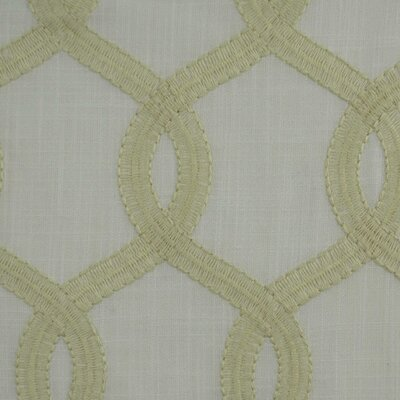 Nantucket Curtain Fabric Color: Ivory