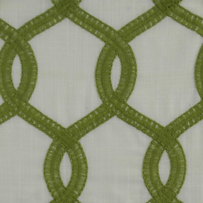 Nantucket Curtain Fabric Color: Green
