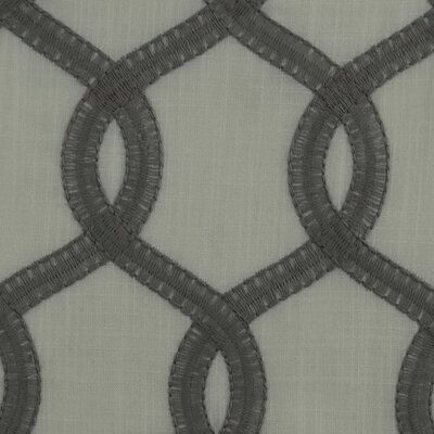 Nantucket Curtain Fabric Color: Gray