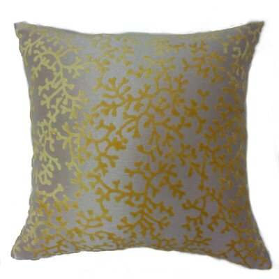 Coral Throw Pillow Color: Yellow