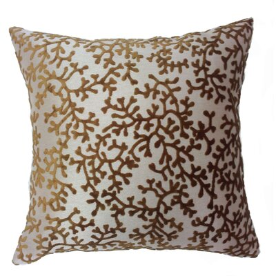 Coral Throw Pillow Color: Bronze