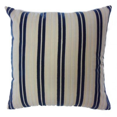 Stripe Throw Pillow Color: Navy/White