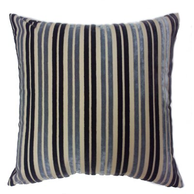 Stripe Throw Pillow Color: Indigo/Silver