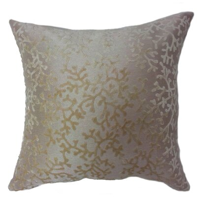 Coral Throw Pillow Color: Ivory