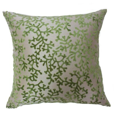 Coral Throw Pillow Color: Green