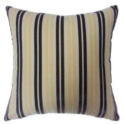 Stripe Throw Pillow Color: Beige/Purple