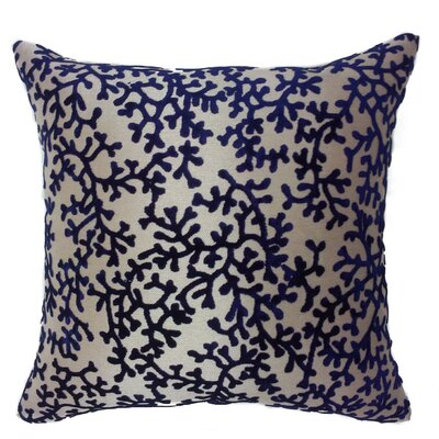 Coral Throw Pillow Color: Navy