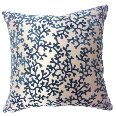 Coral Throw Pillow Color: Blue