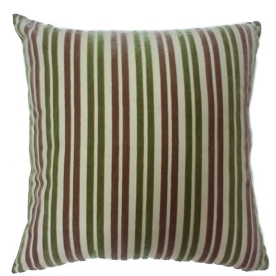 Stripe Throw Pillow Color: Khaki/Green