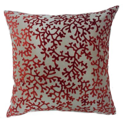 Coral Throw Pillow Color: Rust