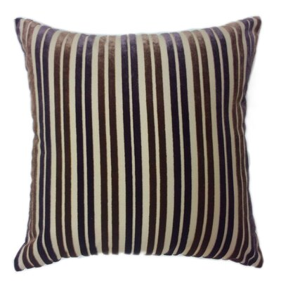 Stripe Throw Pillow Color: Purple/Brown