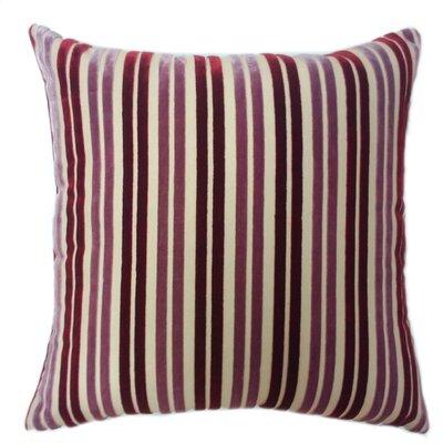 Stripe Throw Pillow Color: Mauve/Burgundy