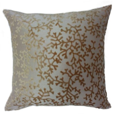 Coral Throw Pillow Color: Light Gold