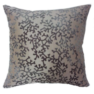 Coral Throw Pillow Color: Steel