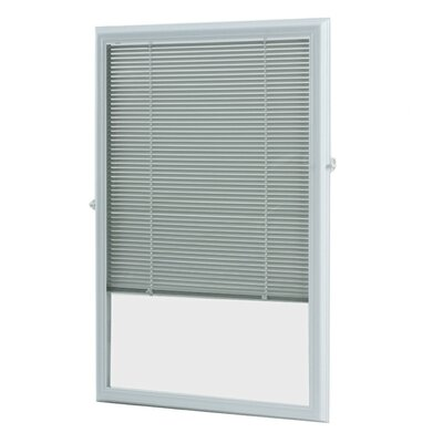 Add On Enclosed Door White Venetian Blind Size: 24.75 W x 38.75 L