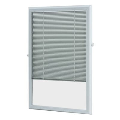 Add On Enclosed Door White Venetian Blind Size: 22.75 W x 66.75 L