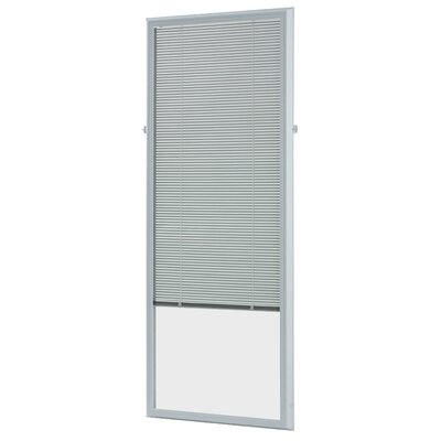 Add On Enclosed Door White Venetian Blind Size: 24.75 W x 66.75 L