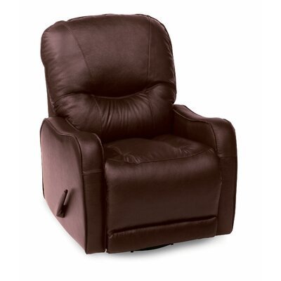 Yates Rocker Recliner Type: Power, Upholstery: Leather/PVC Match - Tulsa II Jet