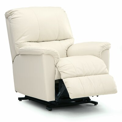 Grady Rocker Recliner Upholstery: All Leather Protected - Tulsa II Chalk, Type: Power