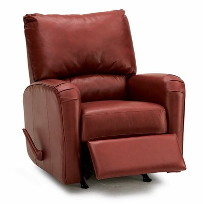 Colt Rocker Recliner Type: Manual, Upholstery: Leather/PVC Match - Tulsa II Chalk