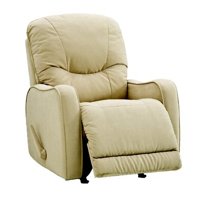 Yates Rocker Recliner Upholstery: All Leather Protected - Tulsa II Chalk, Type: Manual