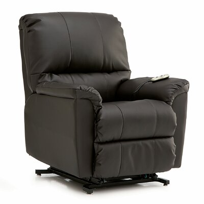 Grady Rocker Recliner Upholstery: All Leather Protected - Tulsa II Dark Brown, Type: Power