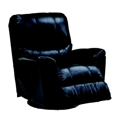 Grady Rocker Recliner Type: Manual, Upholstery: Leather/PVC Match - Tulsa II Jet