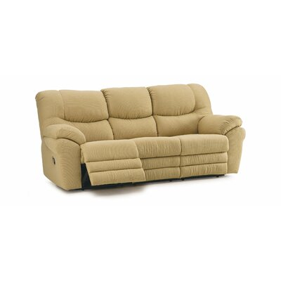Divo Reclining Sofa Type: Manual, Upholstery: Leather/PVC Match - Tulsa II Jet