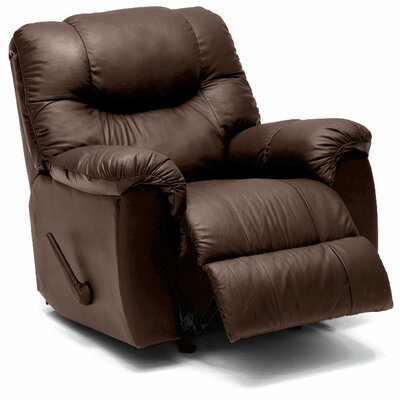 Regent Recliner Type: Manual, Upholstery: Leather/PVC Match - Tulsa II Chalk