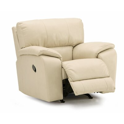 Shields Rocker Recliner Upholstery: All Leather Protected - Tulsa II Chalk, Type: Power
