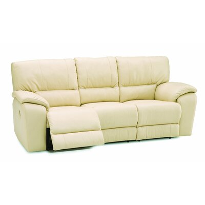 Shields Reclining Sofa Type: Power, Upholstery: All Leather Protected - Tulsa II Chalk