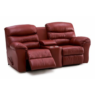 Durant Reclining Loveseat Type: Manual, Upholstery: Leather/PVC Match - Tulsa II Dark Brown