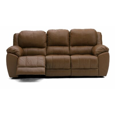 Benson Reclining Sofa Type: Manual, Upholstery: All Leather Protected - Tulsa II Sand
