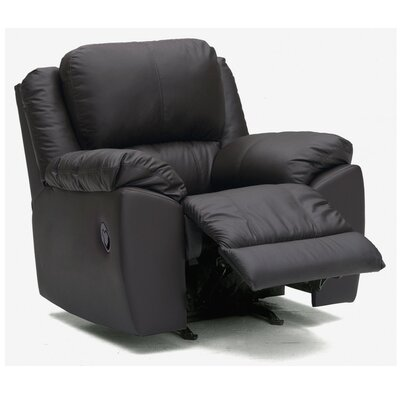 Benson Rocker Recliner Type: Manual, Upholstery: All Leather Protected - Tulsa II Jet