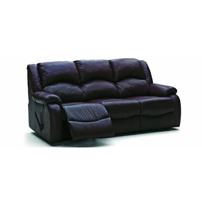 Dane Leather Reclining Sofa Type: Manual, Upholstery: All Leather Protected - Tulsa II Dark Brown